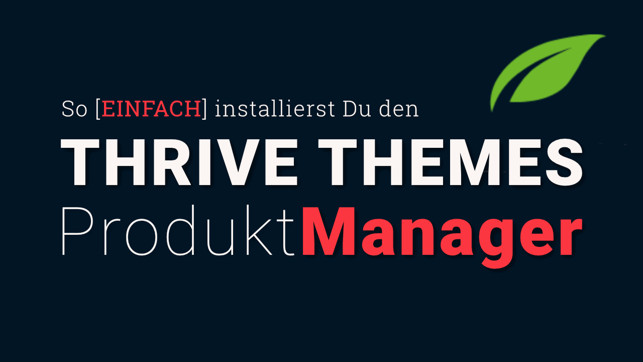 Thrive Themes Product Manager Plugin