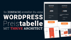 WordPress Preistabelle Plugin