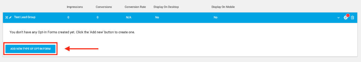 Add New Type of Opt-In Form